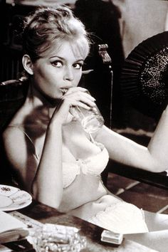 1962 – Brigitte posed in her underwear for this portrait on the set of A Very Private Affair. Photo By Rex Features