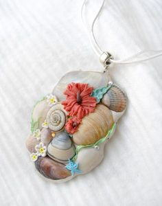 Pretty shells and clay necklace.