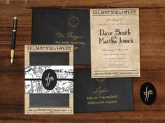 Middle Earth (Lord of the Rings) Wedding Invitation Suite by Chameleon Weddings on Etsy! Printable PDF for you to DIY