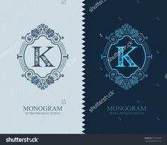 Letter emblem K template, Monogram design elements, Calligraphic graceful template, Elegant line art logo, Business sign for Royalty, Boutique, Cafe, Hotel, Heraldic, Jewelry, Wine