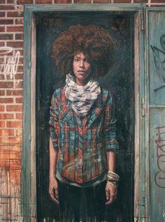 "natural hair art | Sisterlocked: Natural Hair Art: ""Work Shirt"" by Tim Okamura"