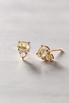 Rosecut Diamond Posts in 14k Rose Gold - anthropologie.com #anthrofave