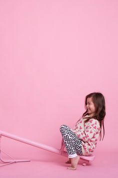 New retro style logo leggings from Gardner and the Gang for spring 2016 kids fashion
