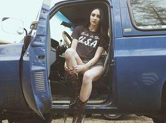 American babes drive American Made🇺🇸 Happy 4th Ya'll #MadeInTheUSA