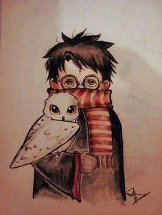 un dessin de harry potter
