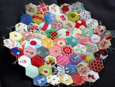 love these colors and always love hexagon quilts