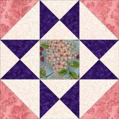 "Free Quilt Block Patterns, M through S: Ohio Star Quilt Block Pattern Variation - 3 sizes: 6"", 9"", 12"""