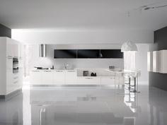 #VALENCIA #KITCHEN  Glossy white finishing ... http://spar.it/ita/Catalogo/Cucine/Cucine-moderne/VALENCIA/Default-cc-271.aspx