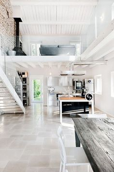 i would so have an industrial beach house! with the looong shag carpet :) yea its gonna be awesome