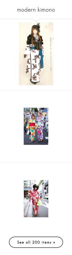 """""""modern kimono"""" by tashachan ❤ liked on Polyvore featuring intimates, robes, kimono robe, embroidered kimono, gothic robe, kimono, angelic pretty, dresses, asian and japan"""