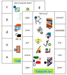 Knijperkaarten thema school om met anderstalige nieuwkomers en leerlingen Nederlands te oefenen.