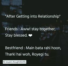 Ye bilkul Shi h. Best Friend Quotes Funny, Cute Funny Quotes, Really Funny Memes, Funny Facts, Best Quotes, Stupid Quotes, Sarcastic Quotes, Jokes Quotes, Life Quotes