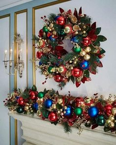 75 Gorgeous Christmas Fireplace Decor and Design Ideas Types Of Christmas Trees, Cute Christmas Tree, Christmas Tree Themes, Outdoor Christmas Decorations, Diy Christmas Ornaments, All Things Christmas, Christmas Wreaths, Holiday Decor, Christmas Island
