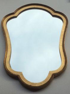kultakehyksinen ranskalainen vintage peili . golden frame French vintage mirror   58 x 40 cm SOLD