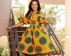 African print fashion dresses African clothing for women/ African prints dress for prom / African Dresses For Women, African Print Dresses, African Print Fashion, Africa Fashion, African Attire, African Wear, African Fashion Dresses, Fashion Outfits, African Prints