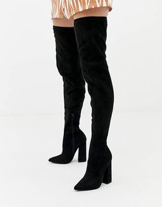 Order Missguided flared heel over the knee boot in black online today at ASOS for fast delivery, multiple payment options and hassle-free returns (Ts&Cs apply). Get the latest trends with ASOS. Bow Boots, Buckle Ankle Boots, Flat Boots, Suede Ankle Boots, Thigh High Boots, Lace Up Boots, Over The Knee Boots, Lace Up Block Heel, Block Heel Shoes