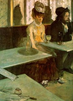 This is my favorite Degas! Look at the loneliness on the woman's face