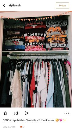Closet Organization Doesn't folded clothes give you so much satisfaction? My New Room, My Room, Bedroom Inspo, Bedroom Decor, Bedroom Ideas, Teenager Mode, Trendy Outfits, Cute Outfits, Room Goals