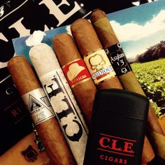 CLE Cigar Company 5 pack sampler and CLE Torch Lighter. Both IPCPR exclusives. #bestcigarprices