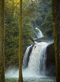 Chasing waterfalls: kayaker Dane Jackson exploring rural western Mexico Image: John Rathwell http://win.gs/NExz90