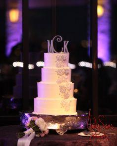 Barton Creek Resort Wedding. Purple uplighting. Pinspotting. Photos by Andy Sams Photography.