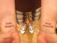 Steve Jobs quote tattoos