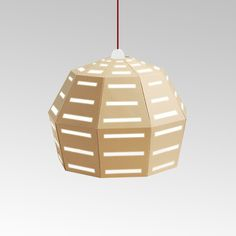 Natural cardboard lamp. From UNO collection.