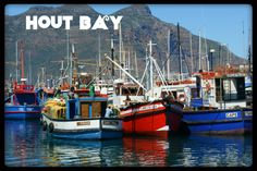 Fishing Boats at Hout Bay Harbour, Cape Town, South Africa Great Names, Fishing Boats, Cape Town, Four Square, Places To Travel, South Africa, Sailing, Legends, Community