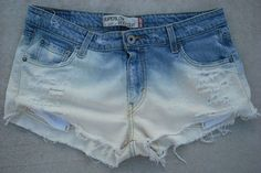 Levi Superlow 518 Bleached Trashed Destroyed Frayed Cut Off Shorts Jeans Sz 13- $19.99
