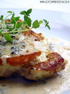 Schab z gruszka i gorgonzola