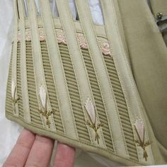 Corset making tutorials from Sew Curvey corset flossing sample