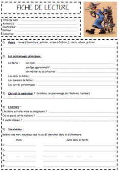 A l'encre violette: FICHE DE LECTURE CM1/CM2