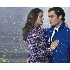 Ed Westwick & Leighton Meester ❤ liked on Polyvore featuring gossip girl, ed westwick and leighton meester