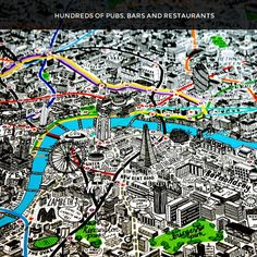 Image of Hand Drawn Map of London (smaller)