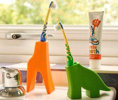 Animal #Toothbrush Holders http://thegadgetflow.com/portfolio/animal-toothbrush-holders/?utm_content=buffer0da10&utm_medium=pinterest&utm_source=pinterest.com&utm_campaign=buffer Make brushing time fun for your kids! #forkids