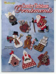 Plastic Canvas COUNTRY CHRISTMAS ORNAMENTS 1/7