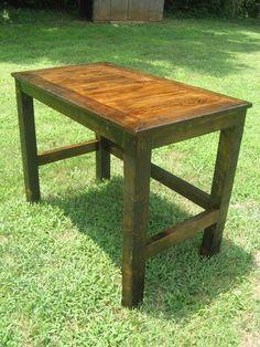 Stained Desk made from Reclaimed Wood by toddmanring on Etsy, $600.00
