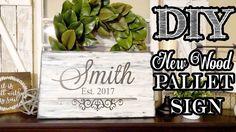 Pallet Style Wood Sign Using New Wood