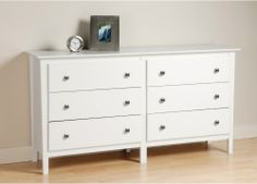 Berkshire 6 Drawer Dresser - White - Dressers & Chests at Hayneedle