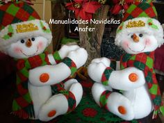 Manualidades Navideñas Anafer: Muñecos cortineros
