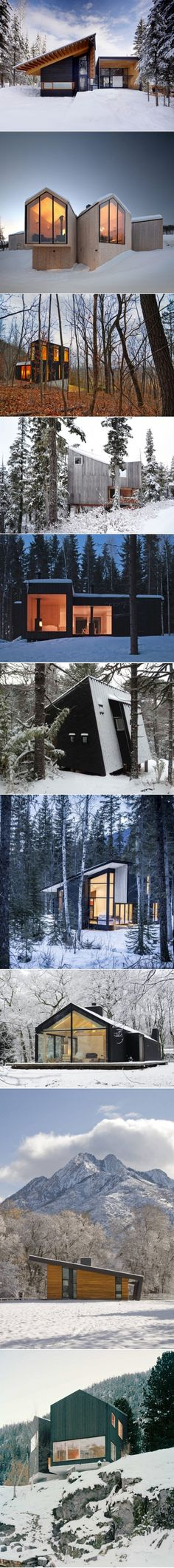 10 Modern Wintry Cabins We'd Be Happy to Hole Up In