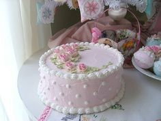Sweet Faux cake I made and Copyright 2009 Rhea Cominolo aka Sweet n Shabby Roses Cake Decorating Designs, Cake Decorating Techniques, Cake Designs, Cookie Decorating, Pretty Cakes, Beautiful Cakes, Cupcakes, Cupcake Cakes, Mothers Day Cakes Designs
