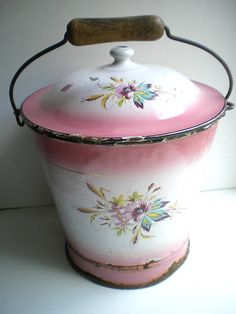 french - looks like an old chamber pot I have except mine is plain white & blue