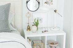 Nightside Table with Ikea's Kallax (Expedit) Shelf #theeverygirl