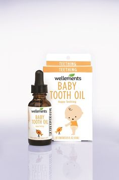 When your baby is teething you need a strong, reliable, and safe organic remedy that works. That's why Wellements created Organic Baby Tooth Clove Oil for Teething. Baby Teething Remedies, Teething Symptoms, Teething Relief, Teething Signs, Fruit Crush, Baby Medicine, Clove Oil, Natural Teeth Whitening, Organic Baby