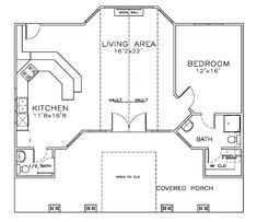 cottage craftsman house plan 59342 - 20x20 House Plans Small Pool