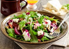 Roasted Beet and Chicken Salad with Goat Cheese - To save time, you can use breast meat from a rotisserie chicken from the grocery store.