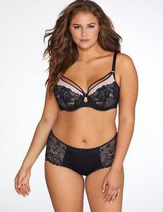 e03f8cea5e215 Curvy Couture Tulip Strappy Lace Push Up Bra 1267 Enhance your best asset  in this Curvy
