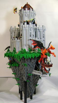 """Tower Rock"" Lego Creation - by Aaron Andrews (DARKspawn), via Flickr;  3 feet tall;  ""No glue was used in this model – it is 100% pure LEGO."""