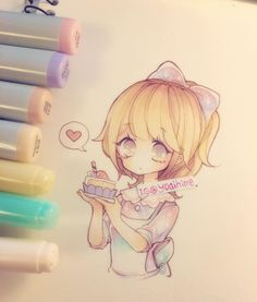 Shortcaaakeeeee O(≧▽≦)O i was wondering which one you guys prefer to eat, cake or pie? I like cake better because it's fluffy ( ´ ▽ ` )ノ #copicart #anime #manga #animegirl #mangagirl #kawaii #cute #moe #oc ----materials: #copicmarkers #copic #multiliner #uniball #gelpen #bienfangpaper ----------- •Artwork (c) yoaihime ~All Rights Reserved~ Do not steal, trace, edit, or reproduce/redraw my artwork~ •No self-promo/advertising/spam in comments please. Respect each other too~ :3 •I don't take…